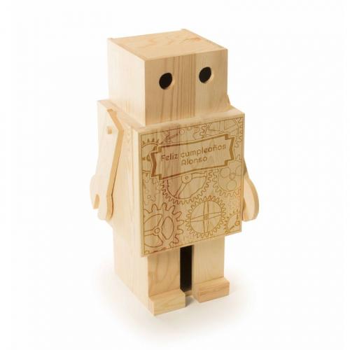 Caja de vino robot personalizada