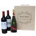 Caja de vino personalizada flores 3 botellas