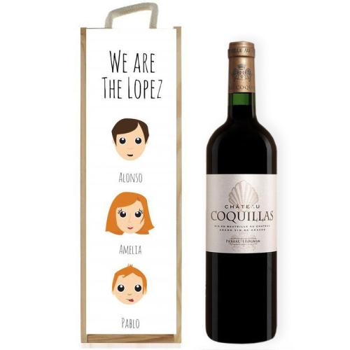 Caja de vino personalizada We Are Family