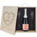 Caja de regalo Mamá : botella de champán y dos copas