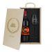 Caja de regalo Award - Botella de vino y copa personalizadas