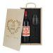 Caja de regalo Mama - Botella de vino y copa personalizadas