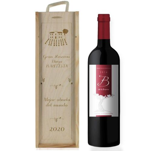 Caja de vino tradición Personalizada