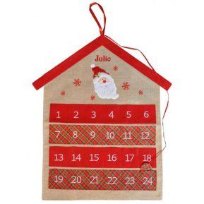 Calendario de adviento en lino personalizado
