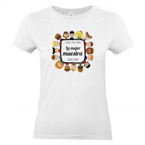 Camiseta mujer gracias maestra