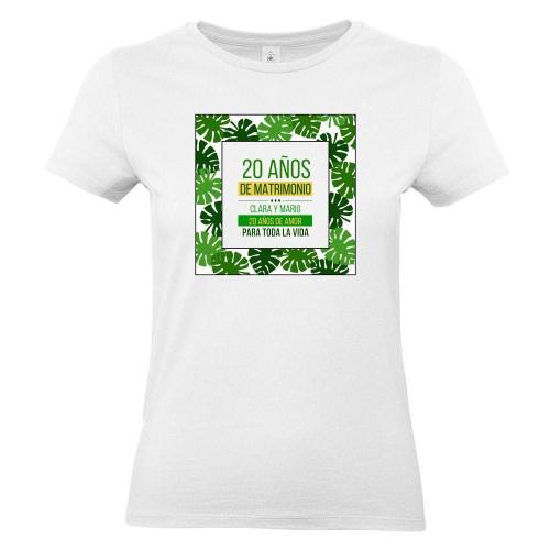 Camiseta mujer personalizada palmeral blanco