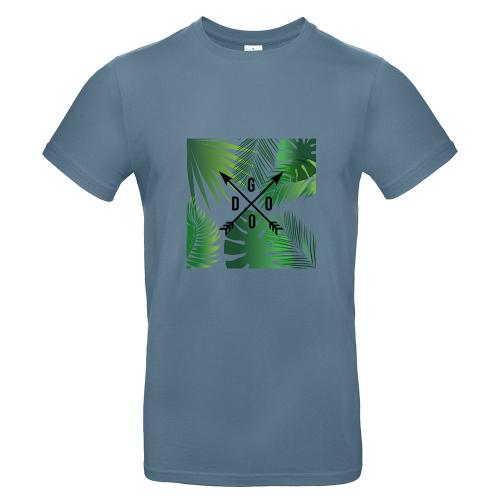 Camiseta hombre con palmeras y flechas