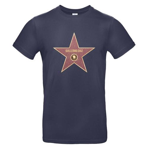 Camiseta hombre Walk of Fame azul marino