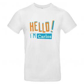 Camiseta hombre personalizada HELLO