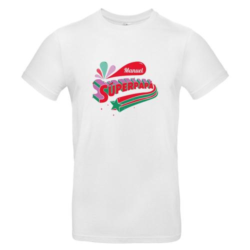 Camiseta hombre blanco súper papá