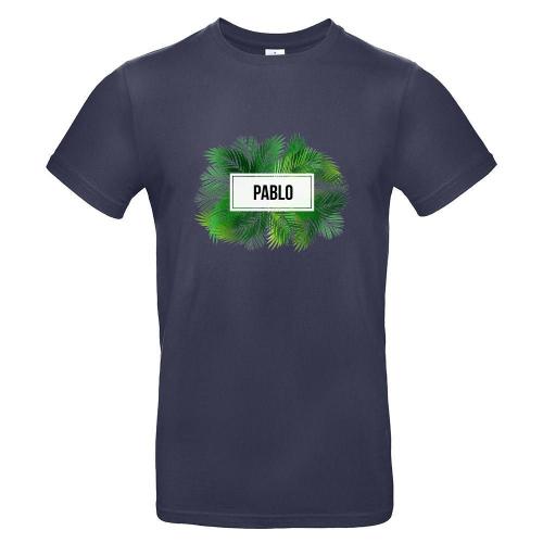 Camiseta hombre palmeras urban navy