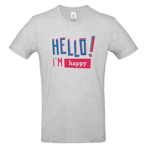 Camiseta hombre HELLO gris