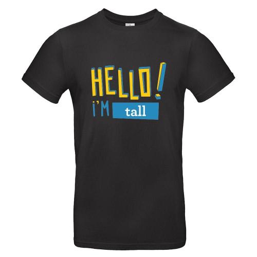 Camiseta hombre HELLO negro