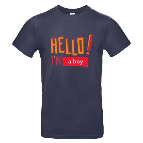 Camiseta hombre HELLO urban navy