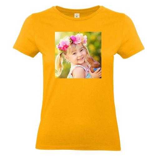 Camiseta mujer con foto albaricoque