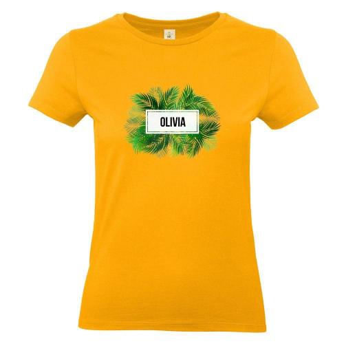 Camiseta mujer palmeras albaricoque