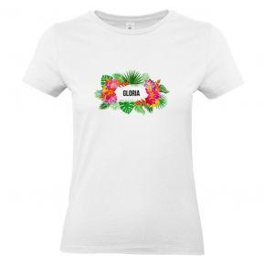 Camiseta mujer personalizada con flores exoticas