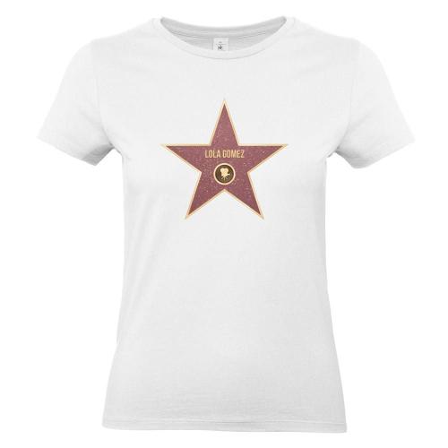 Camiseta mujer Walk of Fame blanco