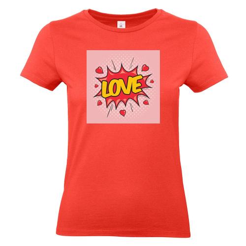 Camiseta mujer con foto coral