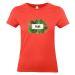 Camiseta mujer palmeras coral