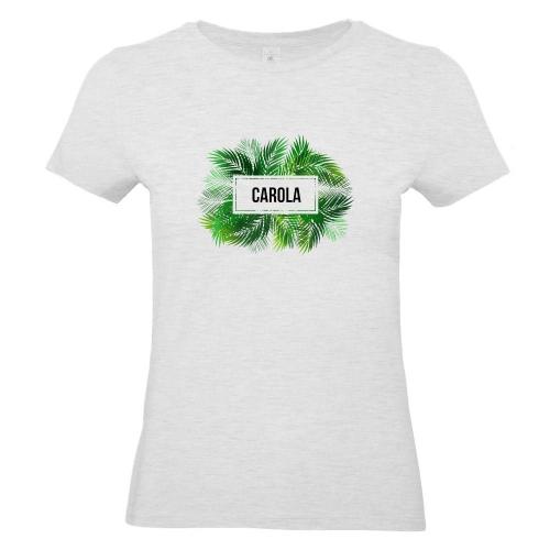 Camiseta mujer palmeras gris ash
