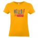 Camiseta mujer HELLO albaricoque