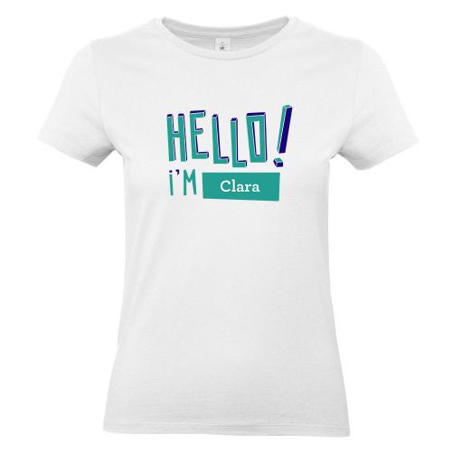 Camiseta mujer HELLO blanco