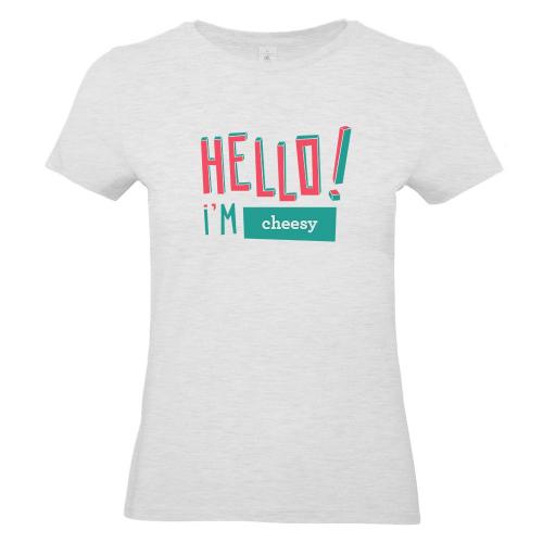 Camiseta mujer HELLO gris