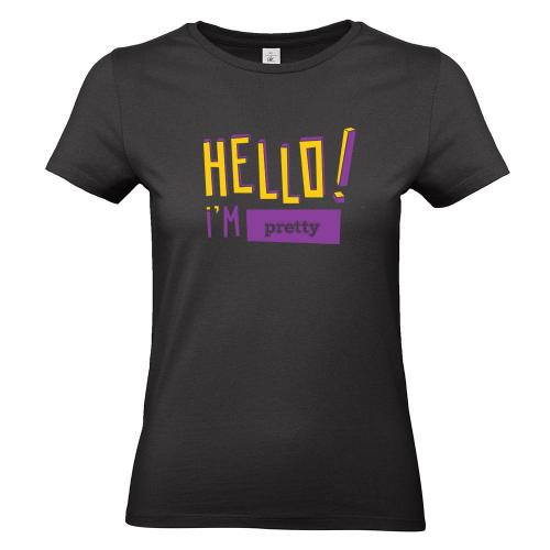 Camiseta mujer HELLO negro