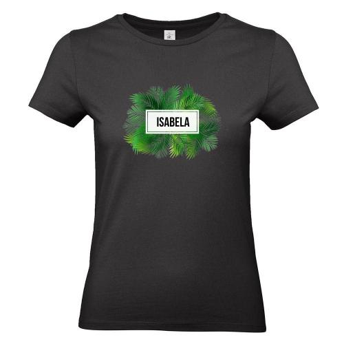 Camiseta mujer palmeras negro