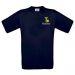 Camiseta niño personalizada alfabeto azul marino