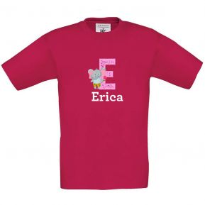 Camiseta niño personalizada alfabeto y animal