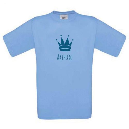 Camiseta niño personalizada azul claro