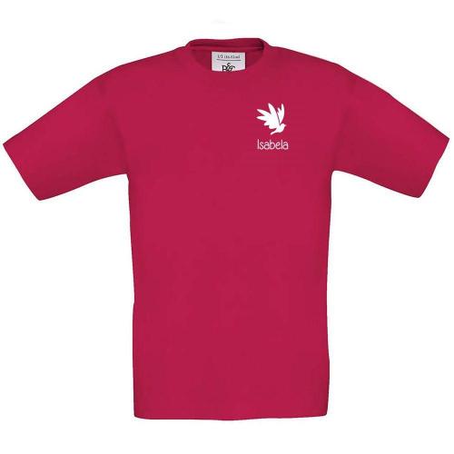 Camiseta niño personalizada fuschia