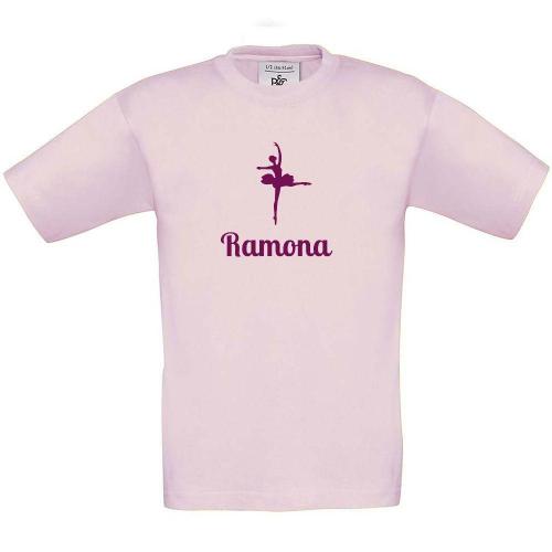 Camiseta niño personalizada rosa