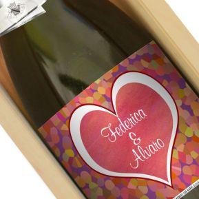 Botella de champán personalizada San Valentín