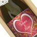 Botella de champán personalizada Amor