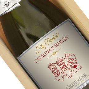 Botella de champán personalizada Navidad