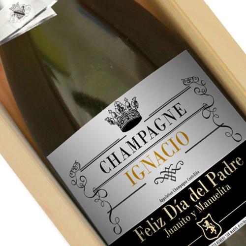 Botella de champán personalizada Real