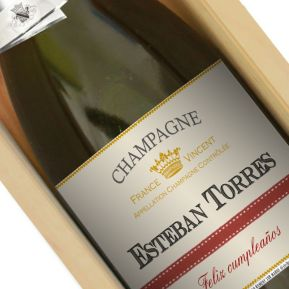 Botella de champán personalizada