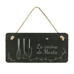 Placa para puerta de cocina personalizada