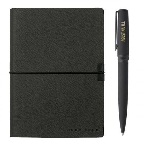 Cofre Hugo Boss cuaderno y boligrafo grabado