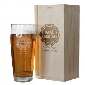 Vaso de cerveza personalizado de papá