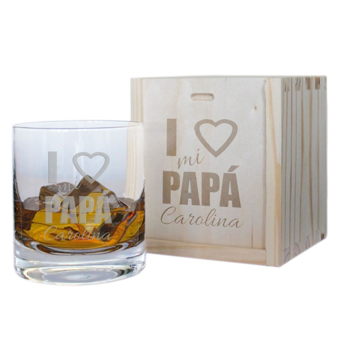 Cofre vaso de whisky personalizado de papá