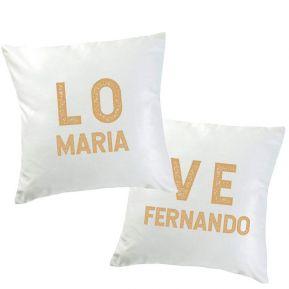 Dúo de cojines personalizados  LOVE