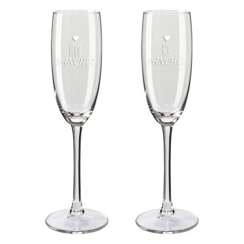 Copa de champaña dúo mrs y mr
