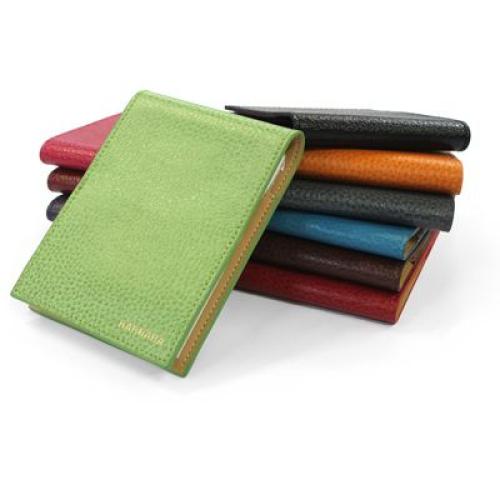 cuadernillo de bolisillo en cuero