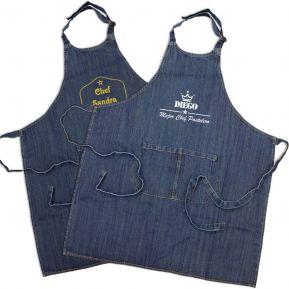 Delantal cocina jean personalisado sello