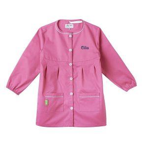 Delantal escolar personalizado tann's rosa