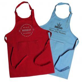 Delantal de cocina para niños bordado sello